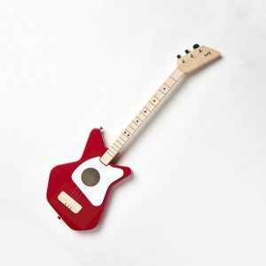 Kids red acoustic guitar