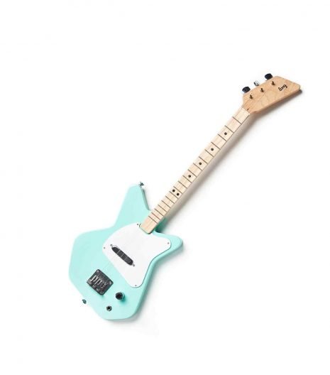 Kids green electric guitar