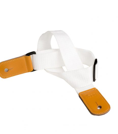Kids white guitar strap